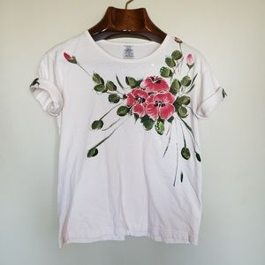 ❤ (3/$20) Hawaii // floral rolled sleeve t-shirt
